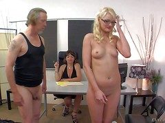 Razor-sharp innocent looking orbit blonde coddle Zoe Paige upon small