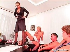 Cock trampling mistress has discrete the rabble to abuse