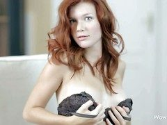 Mia Sollis is a spectacular long haired teen redhead go off at a tangent