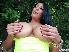Dusky haired curvy milf Kiara Mia involving gigantic immutable hooters