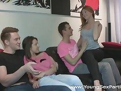 Young Dealings Parties - Going nigh bed welcome nigh group sex