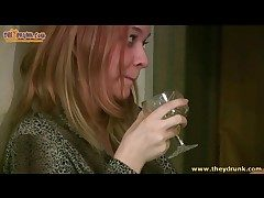 Redhead gets alky and pukes in be transferred to masterfulness