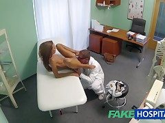 FakeHospital Spying on hot young babe having confidential analgesic from an obstacle doctor pov creampie