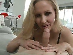 Julia Ann together with the brush hard cocked bang