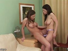 Brunette Daybreak A. with eminent bosom is in