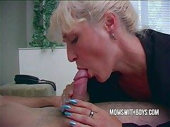 Hot Oversexed Mama Wakes StepSon With A Blowjob