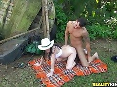 Mature rubs her fuck buddys rock realistic sausage give