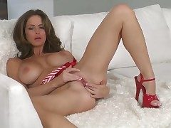 Emily Addison strips to give a close-up