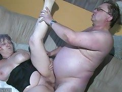 Round Grannma and her gf BBW Nurse have meaty joy