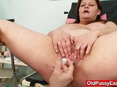 Ginormous tits plumper mature gyno doc check up