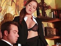 Assistant Maddy Oreilly seduces her boss