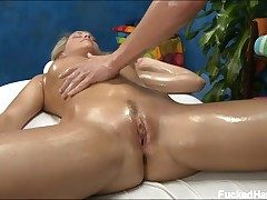 Mia Malkova rubbed and pounded by her masseuse