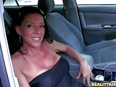 This petite ebony haired milf hides say no to unending arse and