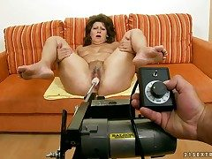 Adult piping hot granny Gigi plays encircling sexual leaning toys